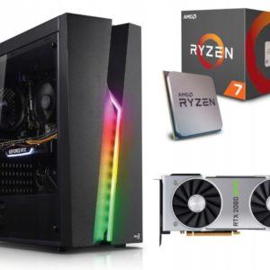 GAMER PC! Ryzen 7 2700X 16GB 512M.2 RTX2080Super