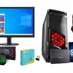 Zestaw 10 Rdzeni! 3,8GHz Radeon R7 16GB Monitor 22