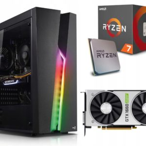 GAMER PC! Ryzen 7 2700X 16GB 512M.2 GTX1660Super